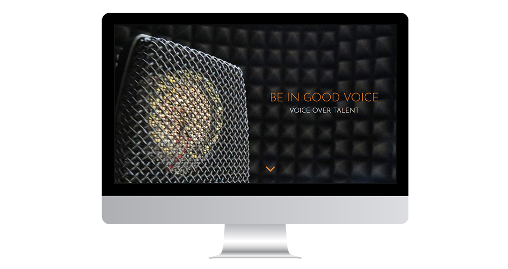 Portfolio image of Be In Good Voice website - desktop