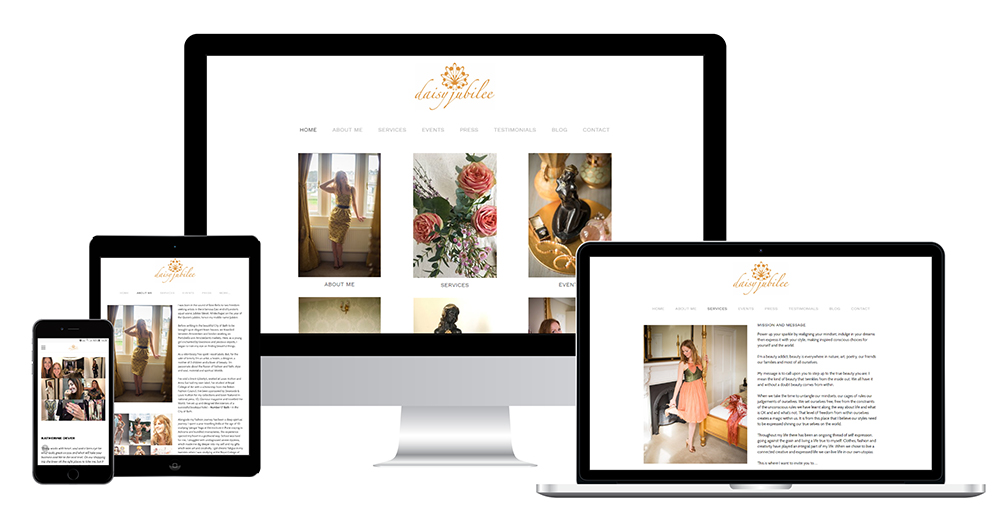 Portfolio image of Daisy Jubilee website - all devices